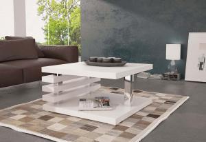 Konferenčný stolík GUIDE, 60x31x60 cm, biely