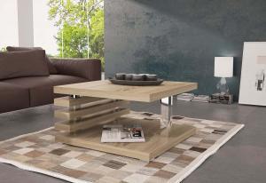 Konferenčný stolík GUIDE, 60x44x60 cm, Sonoma