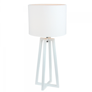 Stolná lampa, biela, QENNY 14