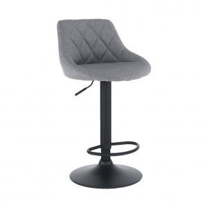 Barová stolička, látka sivá/čierna, TERKAN