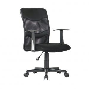Kancelárske kreslo, sieťovina čierna/plast, OBALA