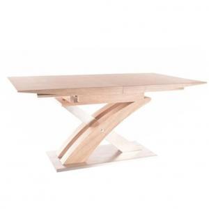 Jedálenský stôl, dub sonoma, BONET, poškodený tovar