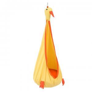 Závesné kreslo, žltá/oranžová, TOLO, rozbalený tovar