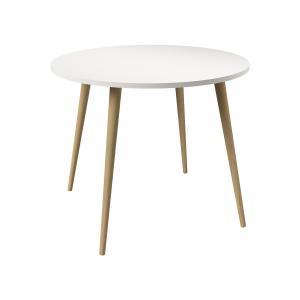 Jedálenský stôl okrúhly NORSK dub/biela
