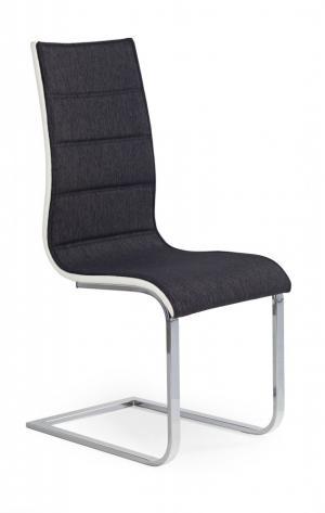 Jedálenská stolička K105 grafit / biela Halmar
