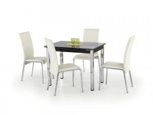Jedálenský stôl rozkladací LOGAN čierny Halmar