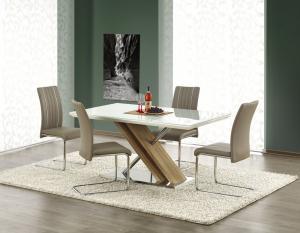 Jedálenský stôl NEXUS biely / dub sonoma Halmar