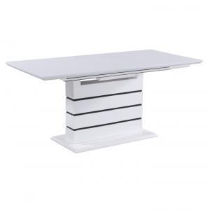 Jedálenský stôl rozkladací 140/180 MEDAN biela lesk Tempo Kondela