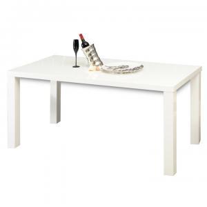 Jedálenský stôl 120 ASPER TYP 2 biela lesk Tempo Kondela