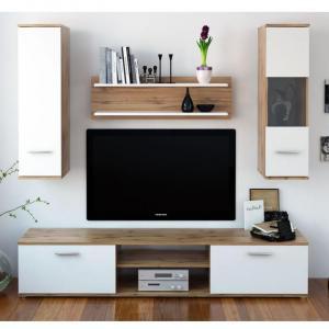 Obývacia stena WAW NEW dub wotan / biela Tempo Kondela