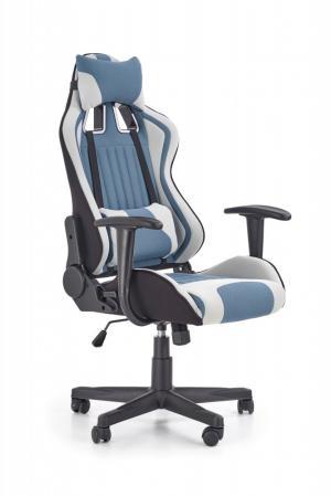Kancelárske kreslo CAYMAN svetlosivá / modrá Halmar