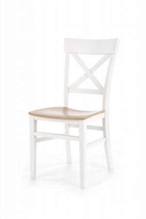 Jedálenská stolička TUTTI dub medový / bílá HALMAR