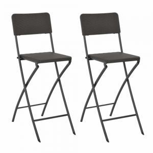 Skladacia barové stoličky 2 ks hnedá