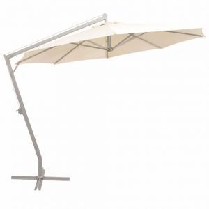 Závesný slnečník s hliníkovou tyčou Ø 350 cm Piesková