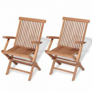 Skladacia záhradná stolička 2 ks hnedá