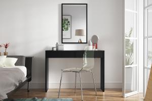 ASTRID toaletný stolík, čierny