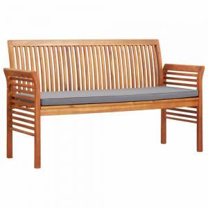 Záhradná lavica 150cm akáciové drevo Dekorhome Sivá