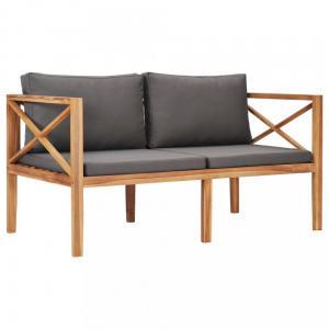 Záhradná lavica 122 cm teakové drevo Dekorhome Sivá