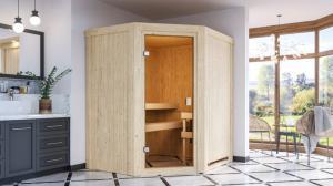 Interiérová fínska sauna 170 x 151 cm Dekorhome