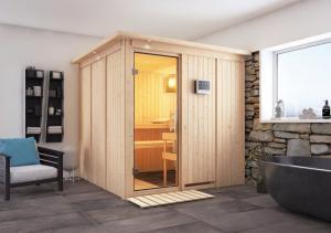 Interiérová fínska sauna 196 x 196 cm Dekorhome