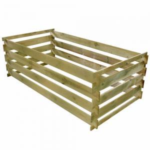 Latkový kompostér 160x80x58 cm drevo Dekorhome
