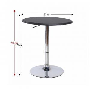 TEMPO KONDELA Barový stôl s nastaviteľnou výškou, čierna, BRANY #1 small