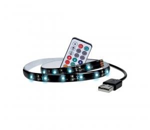 LED RGB pásek pro TV, 2x 50cm, USB, vypínač, dálkový ovladač WM504 Solight