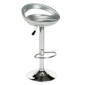 Barová stolička, strieborná/chróm, DONGO NOVE, rozbalený tovar