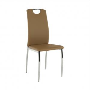 Jedálenská stolička, ekokoža béžová/chróm, ERVINA, rozbalený tovar