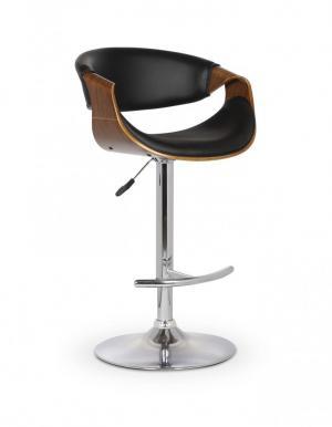 Barová stolička H-100 orech / čierna Halmar