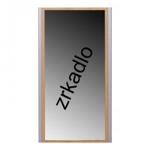 TEMPO KONDELA Lissi 9 zrkadlo na stenu buk / strieborná