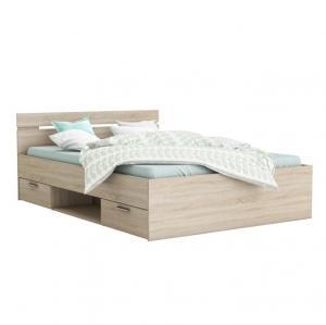TEMPO KONDELA Michigan 140 manželská posteľ s úložným priestorom dub sonoma