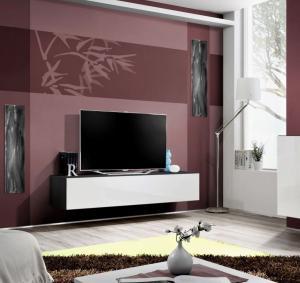 ASM Fly ZW tv stolík čierna / biela