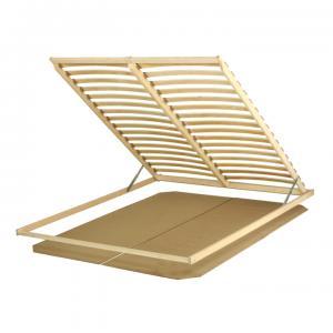 TEMPO KONDELA Basic Flex 3-zónový lamelový rošt 160x200 cm brezové drevo