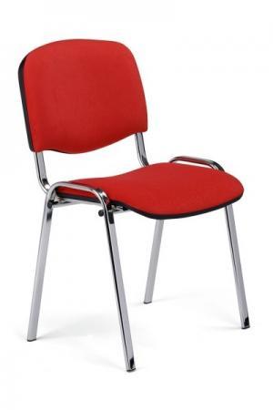 NOWY STYL Iso Chróm konferenčná stolička chrómová / červená (C2)