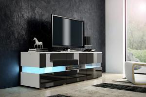 MEBLOCROSS Inter tv stolík biela / čierna