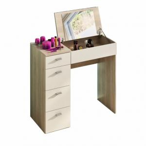 TEMPO KONDELA Belina toaletný stolík dub sonoma / biela
