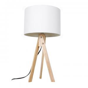 TEMPO KONDELA Lila Typ 1 stolná lampa biela / prírodná