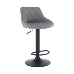 TEMPO KONDELA Terkan barová stolička sivá / čierna