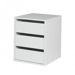 TEMPO KONDELA Italia kontajner do šatníkovej skrine biela / biely vysoký lesk