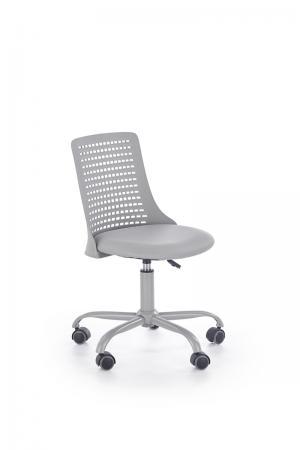 HALMAR Pure detská stolička na kolieskach sivá