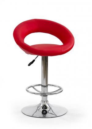 HALMAR H-15 barová stolička červená / chróm