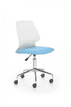 HALMAR Skate detská stolička na kolieskach modrá / biela