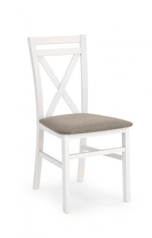 HALMAR Dariusz jedálenská stolička biela / hnedá