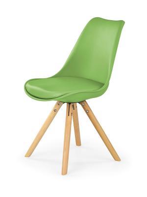 HALMAR K201 jedálenská stolička zelená / buk