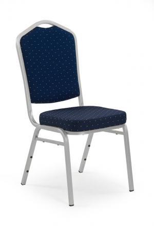 HALMAR K66S jedálenská stolička modrá / strieborná