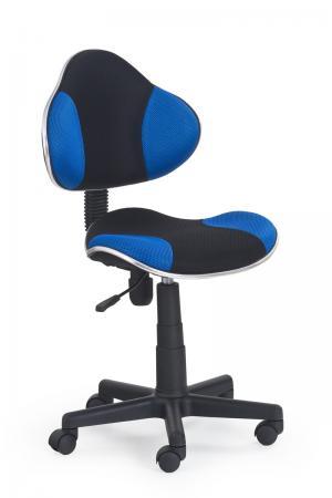 HALMAR Flash detská stolička na kolieskach čierna / modrá