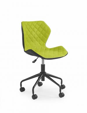 HALMAR Matrix detská stolička na kolieskach zelená / čierna