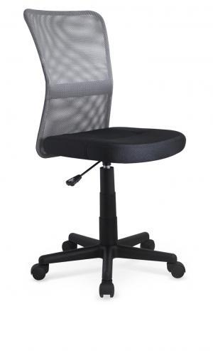 HALMAR Dingo detská stolička na kolieskach sivá / čierna