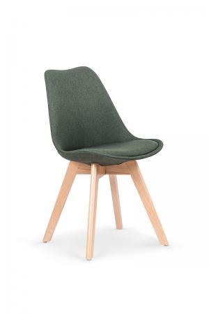 HALMAR K303 jedálenská stolička tmavozelená